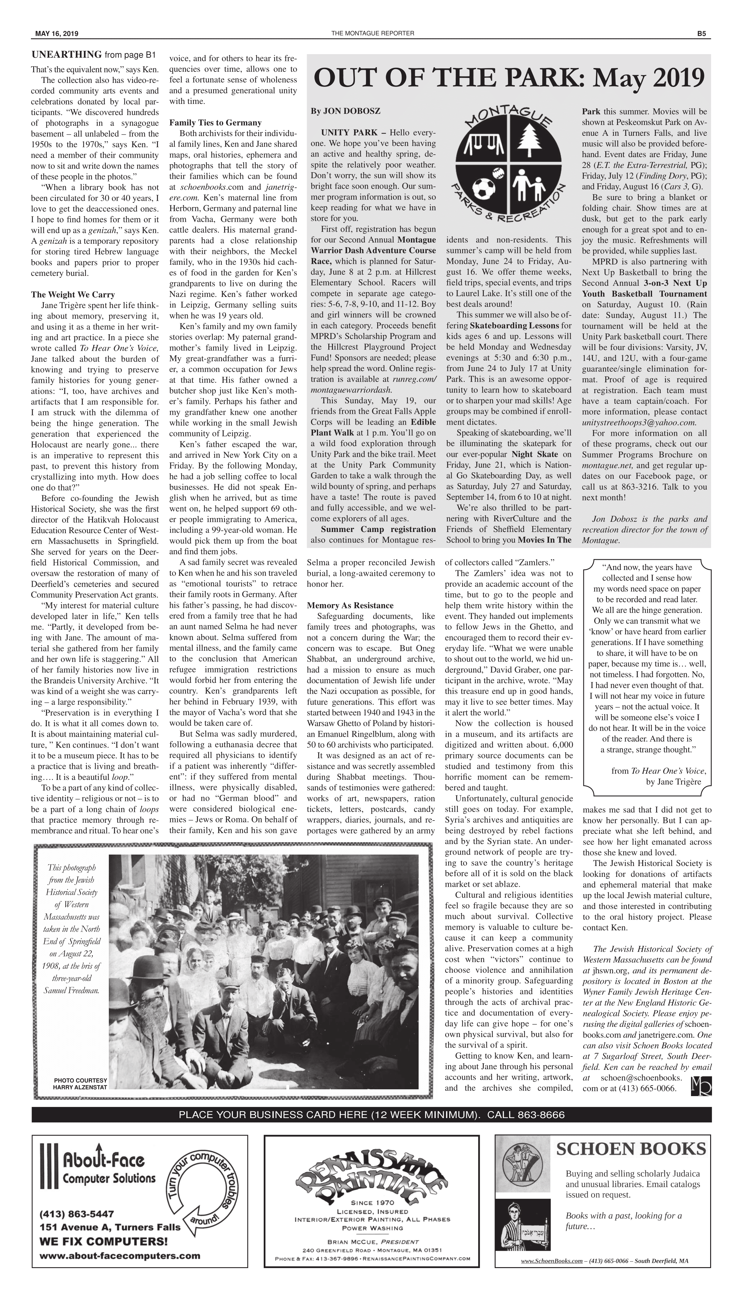 Montague Reporter, May 16 2019 - page 5